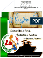 Front Page Program Completion Rites