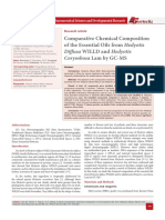 Comparative Chemical Composition of the Essential Oils from Hedyotis Diffusa WILLD and Hedyotis Corymbosa Lam by GC-MS