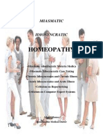 Miasmatic Idiosyncratic Homeopathy