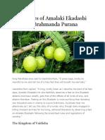 The Glories of Amalaki Ekadashi From the Brahmanda Purana