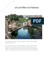 In Search of Lord Shiva in Pakistan