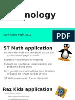 technology curriculum night