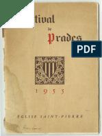 Festival de Prades Season Program - Casals