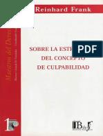 Reinhard Frank - Sobre La Estructura Del Concepto de Culpabilidad (Introducción de Gonzalo D Fernández)