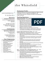 whitefield resume