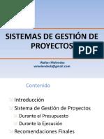 Sistemas de Gestión de proyectos