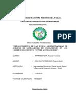 Fortalecimiento de Las Juntas Administradoras de Servicio de Saneamiento de Saneamiento en Los Caserios Del Distrito de Daniel Alomias Robles