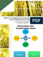 Peranan Sumber Daya Alam Dan Lingkungan Dalam Pembangunan Ekonomi