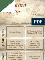 The Burden of Sin by R. Karthigesu