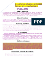 CRIOLLISMO y Modernismo