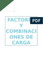 Factores y Combinaciones de Carga