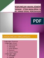 3. Lingkungan Perusahaan (pengantar manajemen)