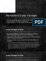 Persistent Data Storage