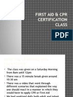 first aid   cpr certification class