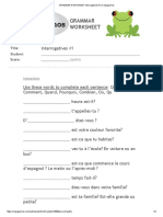 GRAMMAR WORKSHEET_ Interrogatives #1 _ Conjuguemos