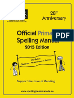 2015 Official Primary Spelling Manual