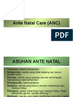 Ante Natal Care (ANC)