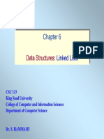 Chapter 6- Data Structures Linked Lists
