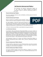División Del Derecho Internacional Público