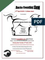 Berks Bucks Counties Show 2016