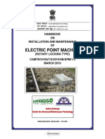 Handbook on Installation & Maintenance of Electric Point Machine
