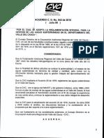 Acuerdo 042 de 2010 CVC