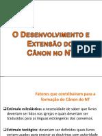 Desenvolvimento e Extensão do Cânon no NT