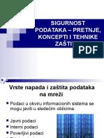 Milica Janković, Jelena Miljković - Sigurnost Podataka - Pretnje, Koncepti i Tehnike Zaštite