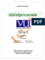 Artificial Viva Exam Scheduler final project document