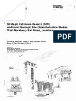 Additional Geologic Site Characterization Studies West Hackberry Salt Dome