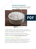14 Beneficios Del Magnesio
