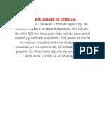 Receta Jarabe de Cebolla