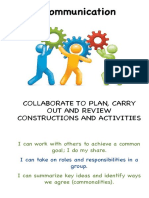 communication - collaborate to plan copy