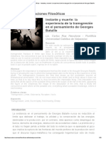 Revista Observaciones Filosóficas - Instante y Muerte_ La Experiencia de La Transgresión en El Pensamiento de Georges Bataille