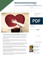 5 Situaciones en Las Que No Deberías Enamorarte