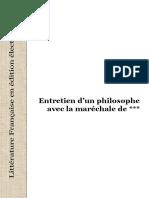 Diderot - Entretien d'Un Philosophe