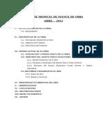 Informe Mensual Abril Obras Arte 2012