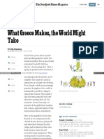 What Greece Makes, The World Might Take