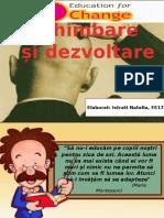 Educația Pentru Schimbare Și Dezvoltare_Istrati2pptx