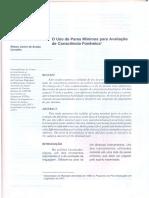 Uso de pares mínimos para avaliação de consciência fonêmica