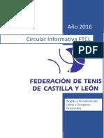 Circular 2016 Federación de Tenis