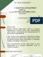 Presentation on QFD and VOC