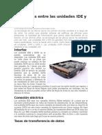 Diferencias Entre Las Unidades IDE y SATA II