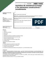 Norma Brasileña NBR_14432 (Resistencia Al Fuego)