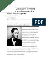 La obra de Gilberto Owen se revalora como una de las más vigorosas de la primera mitad del siglo XX