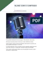 Curso Online Com o Camtasia Studio