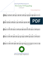 Here We Come a Wassailing Lead Sheet