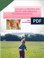 Importancia de la promoción de la salud y el desarrollo materno infantil.ppt