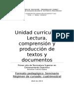 Lectura, Comprensión y Producción de Textos y Documentos.2014. Gauna.