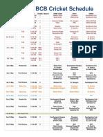 Full 2016 Bermuda Cricket Board League Schedule